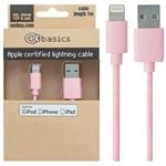 CeX basics Apple Certified Lightning Cable Pink - 1m