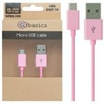 CeX basics - USB to Micro USB Cable Pink 1m
